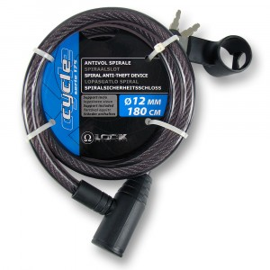 Antivol spirale + support inclu diam. 12mm longueur 180cm : Omega Lock
